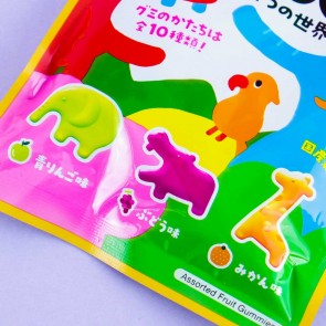 Kanro Asobon Animal World Gummies - Fruit Mix