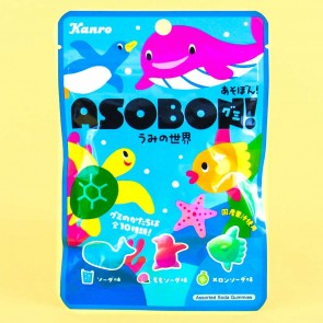 Kanro Asobon Sea World Gummies - Soda Mix