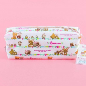 Rilakkuma With Rabbits In The Flower Forest Pencil Case