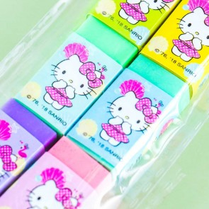 Hello Kitty Pastel Rainbow Eraser Set - 6 pcs