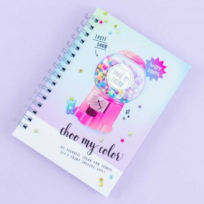 Choo My Color 3D Gumball Machine Spiral Notebook