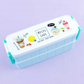 Melty Cafe Double Layer Bento Box Set