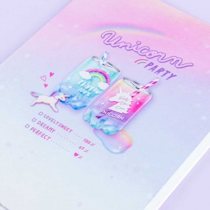Unicorn Party Drinks B5 Notebook