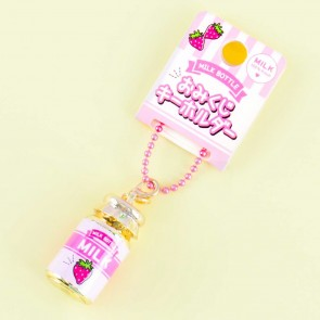 Strawberry Milk Bottle Fortune Telling Charm