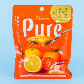 Kanro Puré Gummy - Mandarin Orange & Hassaku Citrus