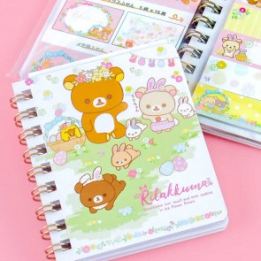 Rilakkuma With Rabbits In The Flower Forest Sticky Notes Set