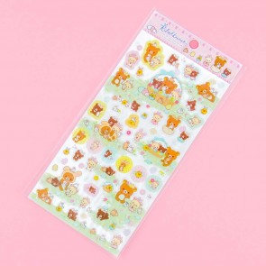 Rilakkuma With Rabbits In The Flower Forest Stickers