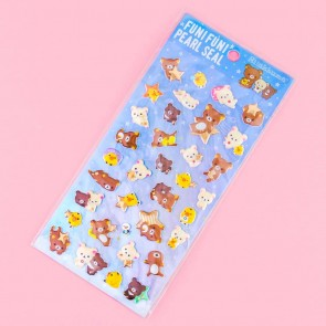Rilakkuma Starry Night Puffy Stickers