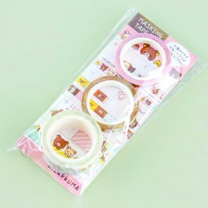 Rilakkuma & Friends Masking Tape Set - 3 pcs