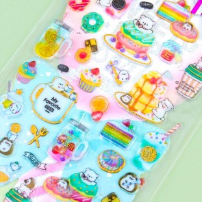 Hapipi Sweets Pop Seal Stickers - Animal Dessert Time