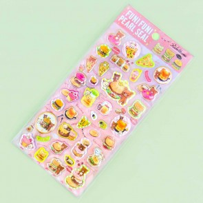 Rilakkuma Snack Time Puffy Stickers