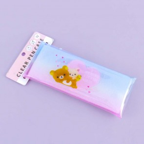 Rilakkuma & Friends Dual-Button Clear Pencil Case