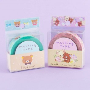 Rilakkuma Flowers & Ribbons Masking Tape