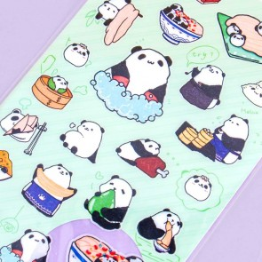 Nekoni Animal Stickers - Panda Life