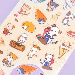 Nekoni Animal Stickers - Baker Cats