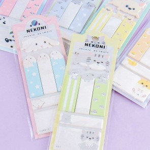 Nekoni Lovely Animals Sticky Notes Set
