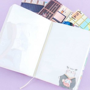 Hot Spring Neko Hardbound Notebook