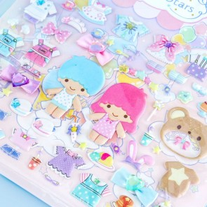 Dress-Up With The Little Twin Stars Puffy Stickers