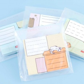 Lazy Cat Sticky Notes Set
