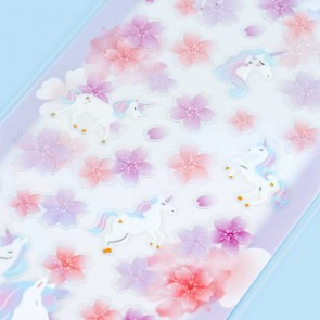 Nekoni Sakura Stickers - Dreamy Unicorns