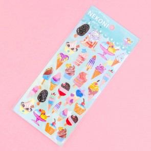 Nekoni Party Stickers - Ice Cream Overload