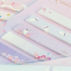 Bunnies & Blooms Sticky Notes Set