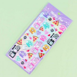 Milky Pop Puffy Stickers - Pizza Hotline