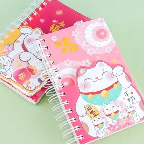 Maneki Neko Spiral Notebook