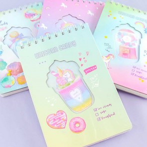 Rainbow Ice Cream A5 Spiral Notepad