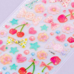 Cherry Blooms & Bows Stickers