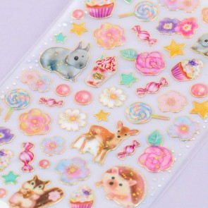 Sweet Animals & Blooms Stickers
