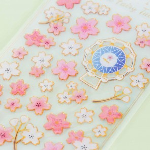 Little Fairy Tale Puffy Stickers - Sakura Carnival