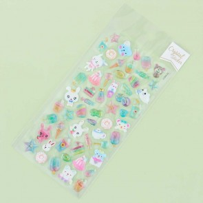 Crystal Puffy Stickers - Sweet Summer