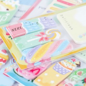 Nekoni Dessert Haven Sticky Notes Set