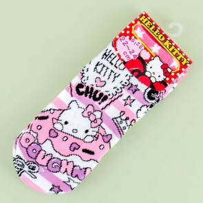 Hello Kitty Doughnut Striped Cotton Socks