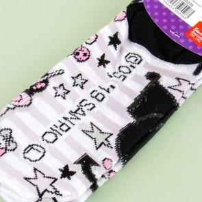 Kuromi Dessert Striped Cotton Socks