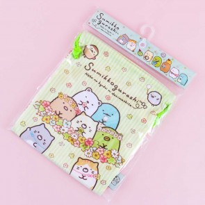 Sumikko Gurashi Flower Field Drawstring Bag