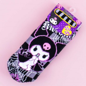 Kuromi Spider Web Checkered Cotton Socks