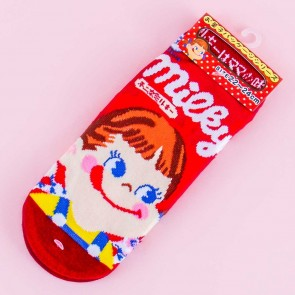 Milky Grinning Peko-Chan Cotton Socks