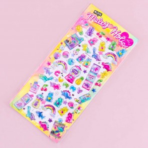 Melty Holic Puffy Stickers - Neon Gummy Candy