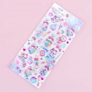 Cosmetic of Sea Kitten Puffy Stickers