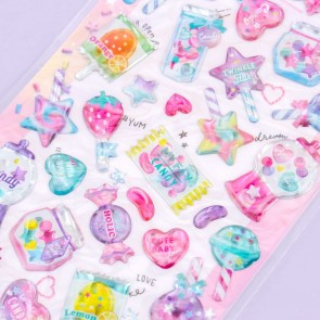 Melty Holic Puffy Stickers - Fruity Candy