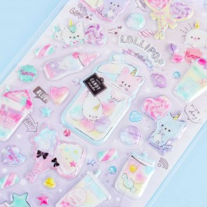 Lollipop Holic Puffy Stickers