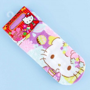 Hello Kitty Floral Matsuri Socks