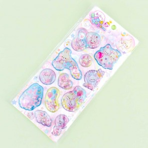 Bunnies & Cats Fantasy Fragrant Puffy Stickers
