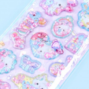Cats & Mice Tea Time Fragrant Puffy Stickers