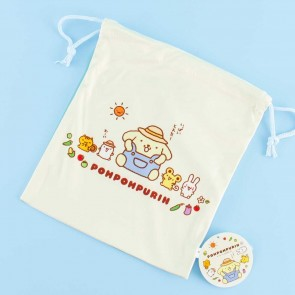 Farmer Pompompurin Drawstring Bag