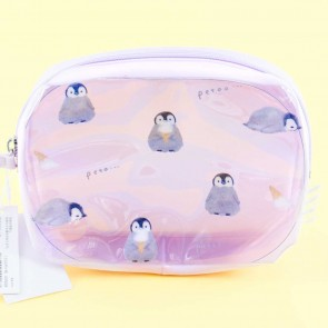Penguin Ice Cream Transparent Cosmetic Bag
