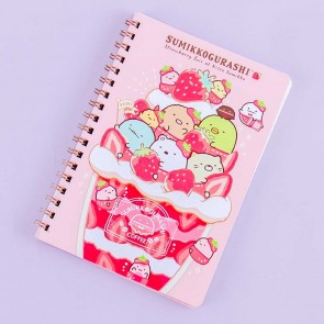 Sumikko Gurashi Strawberry Fair Spiral Notebook