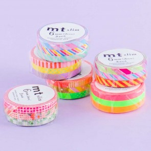MT Fun Patterns Slim Washi Tape Set